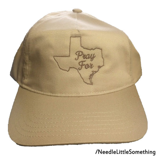 Pray For Texas Embroidered 5-Panel Adjustable Dad Hat-Already Embroidered-