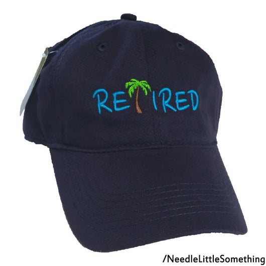 RETIRED Palm Tree Embroidered Bamboo Dad Hat-Already Embroidered-