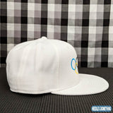 Special Olympics White 6-Panel Flat Bill Hat-Already Embroidered-