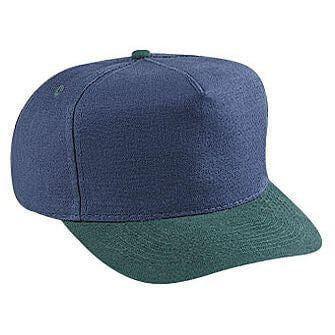 Washed Brushed Heavy Cotton Canvas Low Crown Golf Style Hat-Hats-