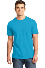 Young Mens Quality Every-Occasion T-Shirt-Shirts-Heathered Bright Turquoise