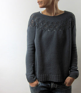 Adelaide knitted summer sweater by Isabell Kraemer