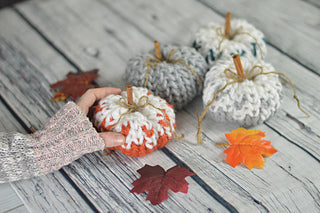 Faded Pumpkin home decor crochet pattern
