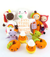 Halloween Amigrumi Set softies crochet pattern