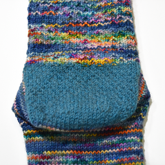Hand knitted sock using the Eye of Partridge slip stitch heel pattern