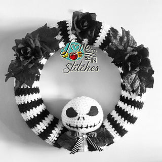 Jack Skellington Wreath crochet pattern