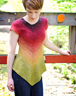 Sugar Maple knitted tee pattern by designer Carina Spencer