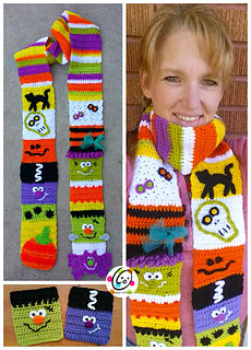 Halloween Sampler Scarf crochet pattern