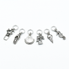 Set of six silver toned beach themed charms snag free ring stitch markers for knitting by Pretty Warm Designs