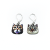 Two cat charm locking stitch holders for crochet and knitting by Pretty Warm Designs