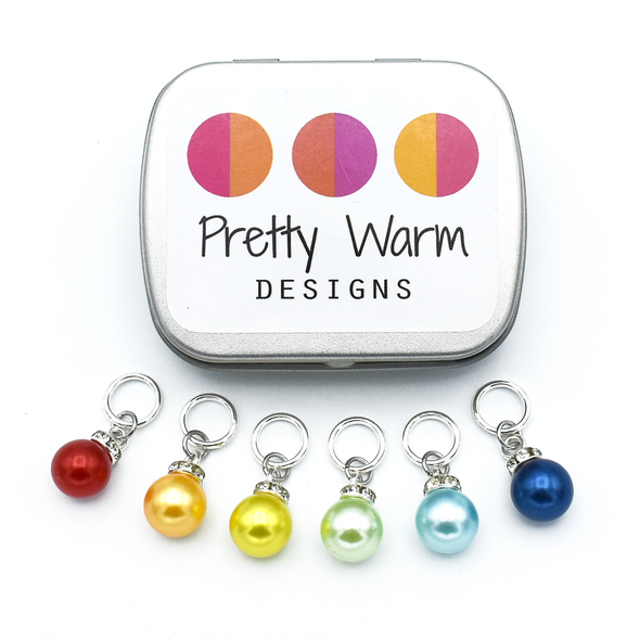 Pearly Ornament Stitch Markers for Knitting | Snag Free