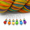 Round Rainbow Stitch Markers | Knitting Accessories