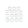 Set of fifteen small heart ring stitch markers for knitting by Pretty Warm Designs