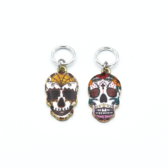 Sugar Skull Stitch Markers | Knitting