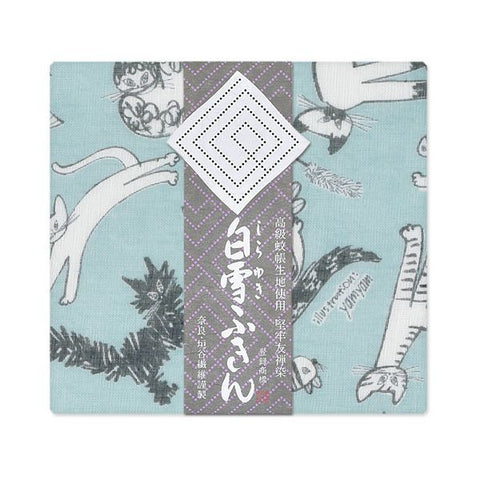 Yuzen Fine Mesh Dish Cloth - Meow Cat Blue