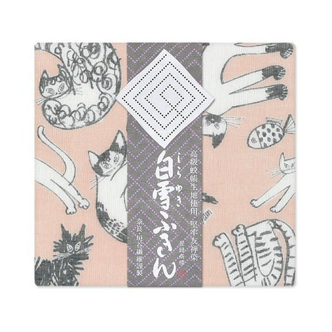 Yuzen Fine Mesh Dish Cloth - Meow Cat Pink