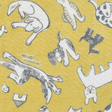 Yuzen Fine Mesh Dish Cloth - Bow Dog Yellow