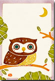 Owl on Twig Illustrated Postcard
