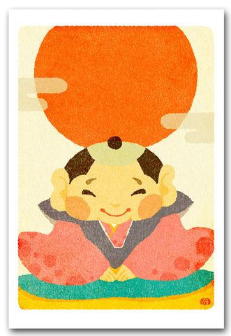 Fukusuke Illustrated Postcard