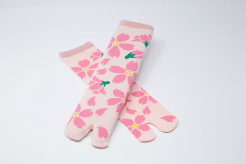 Sakura Pink Tabi Socks Ladies