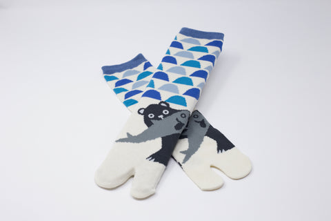 Bear & Fish Tabi Socks Ladies