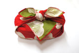 "19"" Reversible Furoshiki Isa Monyo Ume Red/Green"