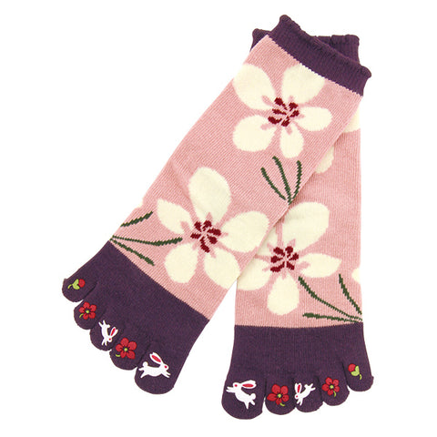 5-Toe Tabi Socks Ladies - Rabbit