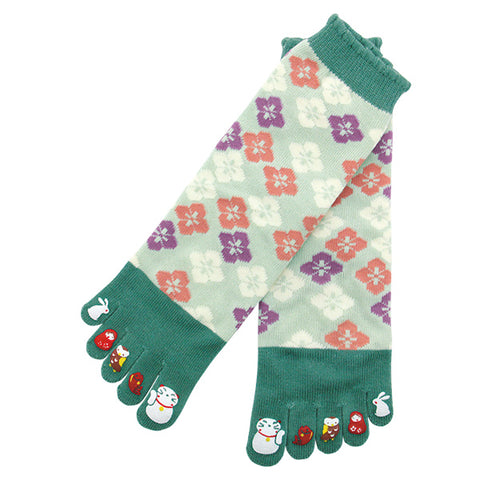5-Toe Tabi Socks Ladies - Maneki Neko