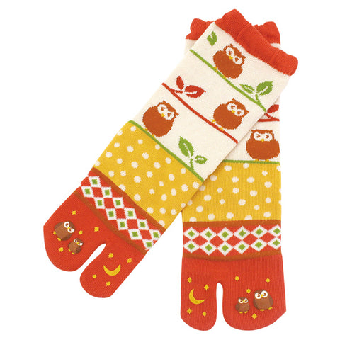 Owl Tabi Socks Ladies