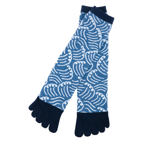 5-Toe Tabi Socks - Waves