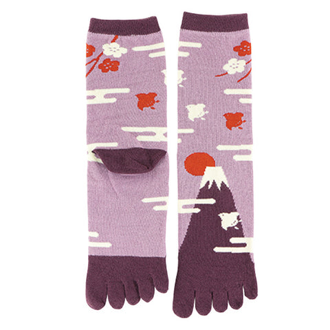 5-Toe Tabi Socks - Mt. Fuji