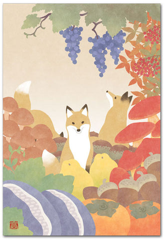 Fox Illustrated Postcard