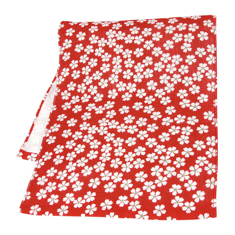 Gauze Face Towel - Sakura Red