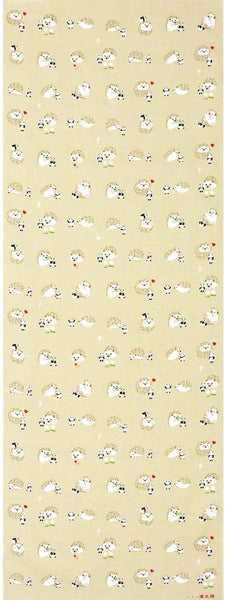 Hedgehog Panda Tenugui Towel