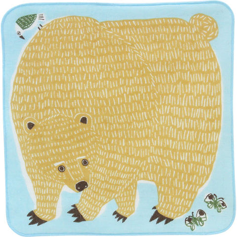 Hand Towel Bear Blue