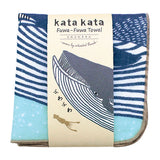 Hand Towel Whale Blue