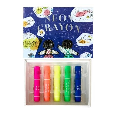 Neon Crayon - 5 Colour Set