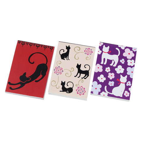 3P Note Pads - Black/White Cat