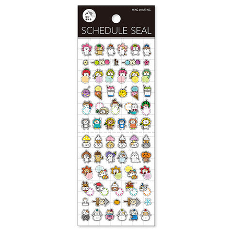 Schedule Frame Cat Seasons Stickers