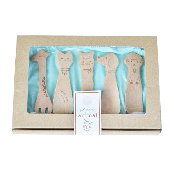 Wooden Cutlery Gift Set - Animal