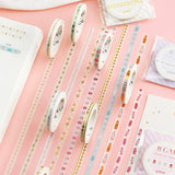 Foil stamping Rain Drops Washi Tape - 5mm