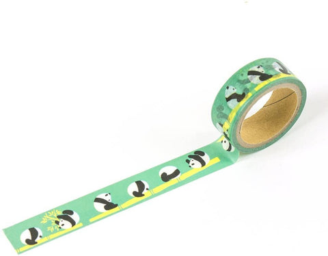 Panda Green Washi Tape - 15mm