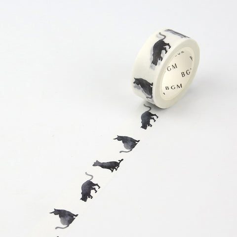 Black Cat Washi Tape - 15mm