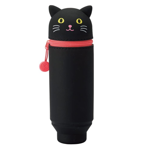 PuniLabo Stand Pen Case - Black Cat