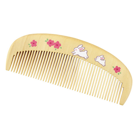Boxwood Tsuge Comb - Sakura Rabbit