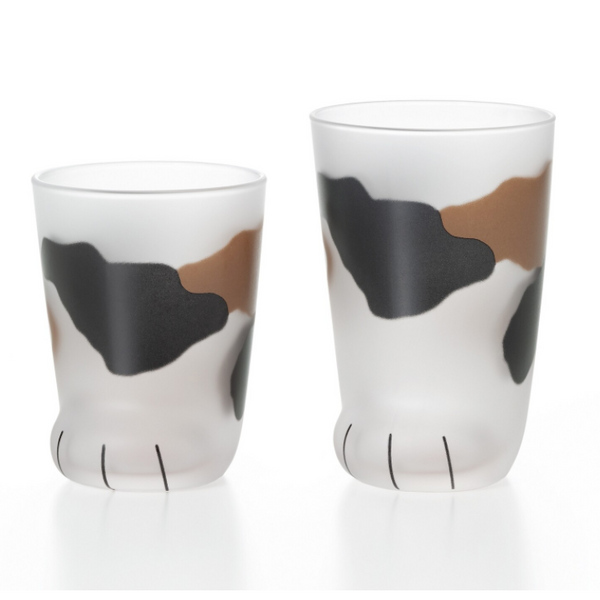 Calico Cat Paw Glasses - Set of 2