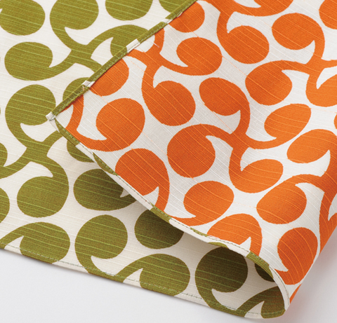 "19"" Reversible Furoshiki Isa Monyo Green/Orange"
