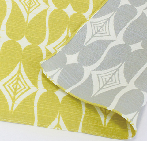 "19"" Reversible Furoshiki Isa Monyo Yellow/Grey"