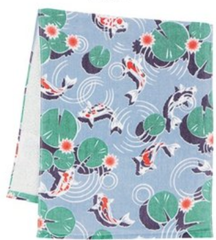Gauze Face Towel - Koi Fish