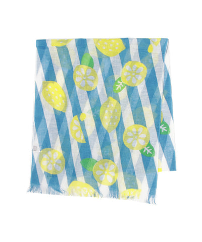 Cotton Linen Stole - Lemon